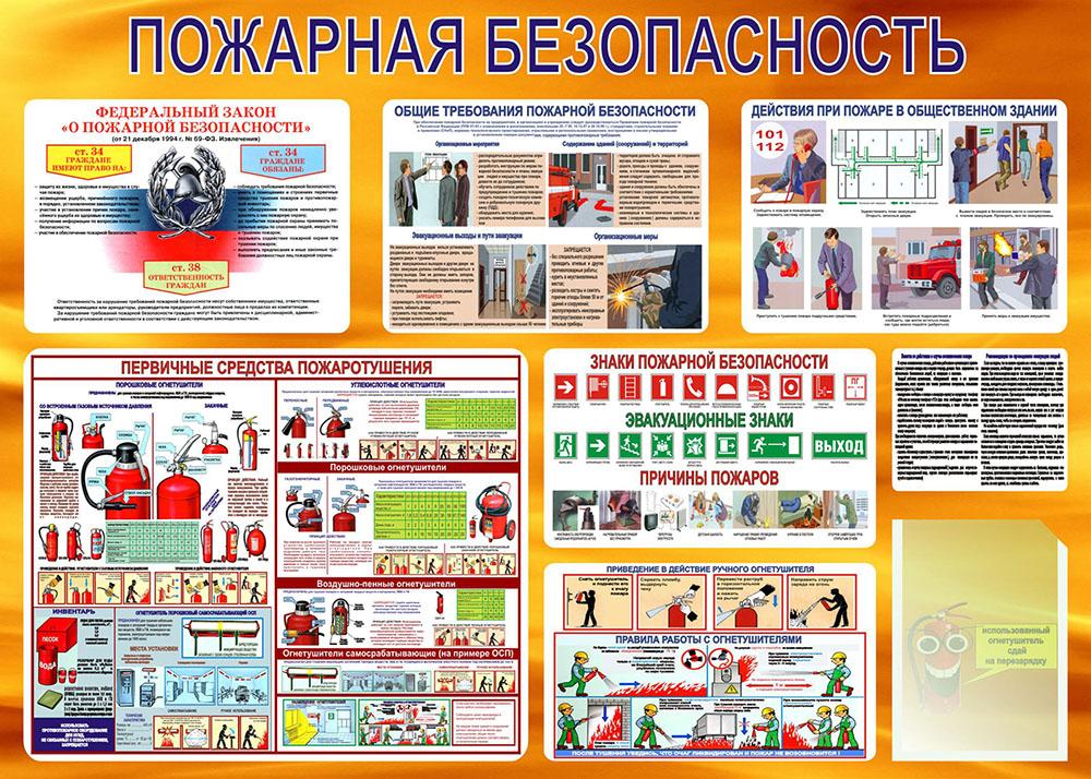 Стенд Пожарная безопасность №5, 1000х1400 мм