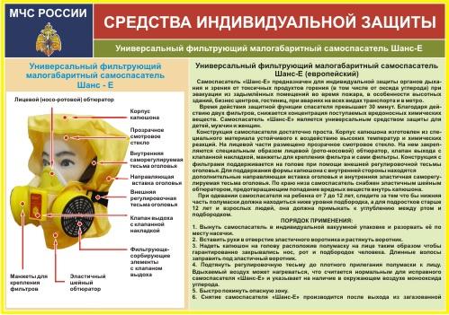 Модуль Средства индивидуальной защиты органов дыхания УФМС ШАНС-Е 240х340мм